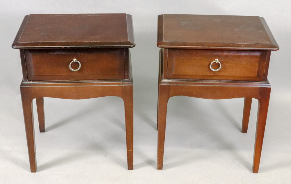 A pair of Stag Minstrel mahogany bedside - Image 4 of 4