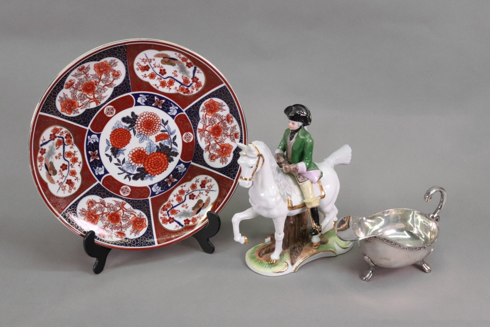 Lot 1437 - A modern Japanese plate, 25cm diameter,