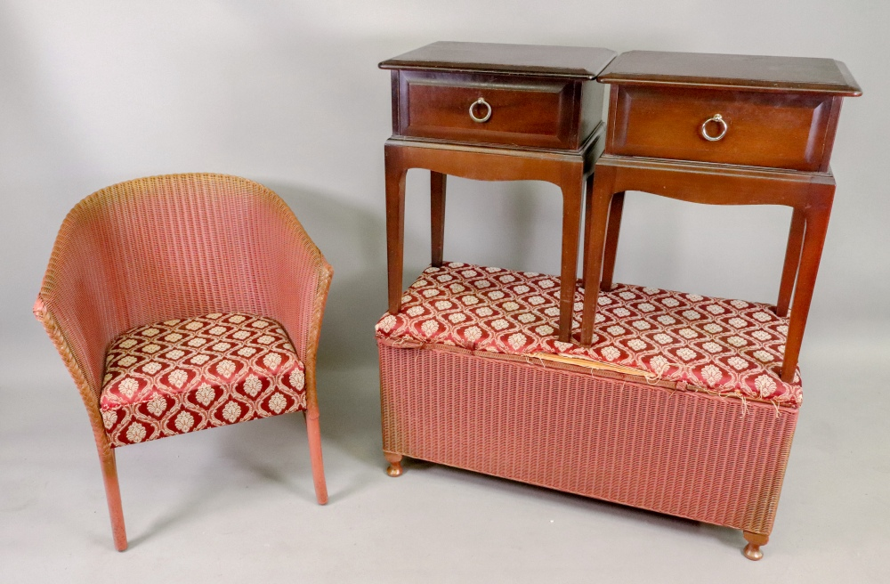 A pair of Stag Minstrel mahogany bedside