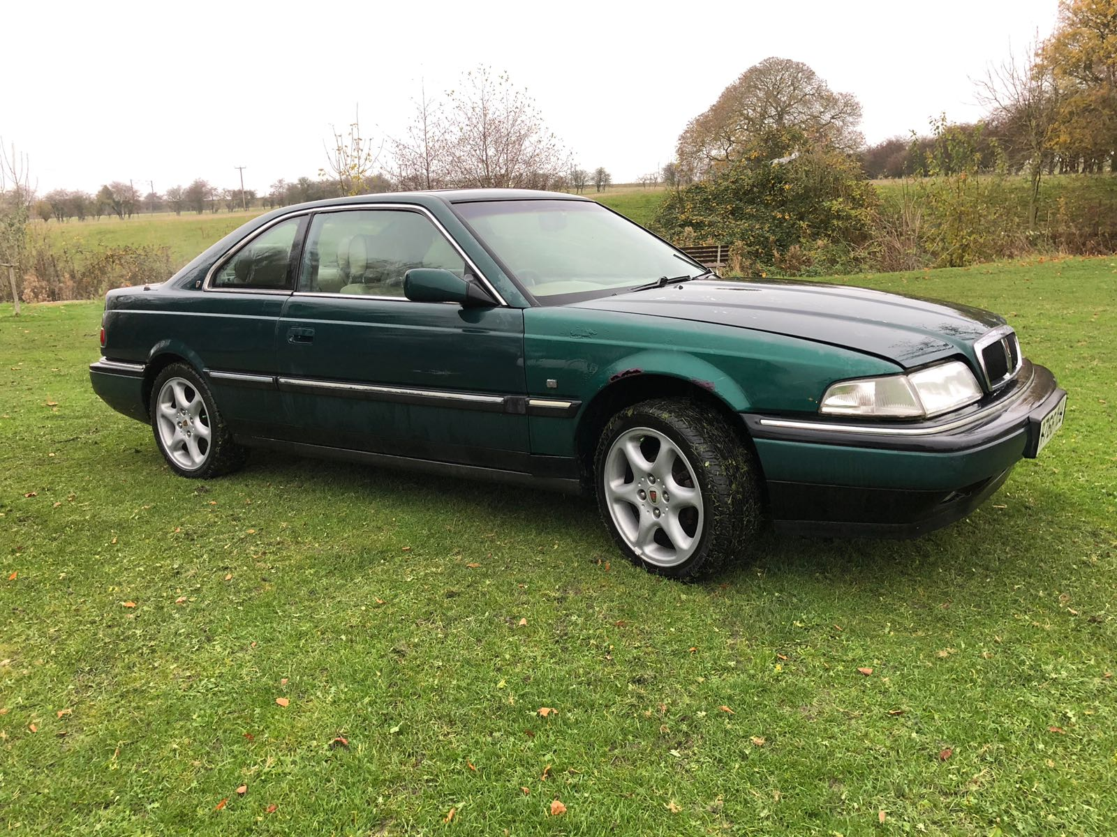 Lot 90 - 1997/R REG ROVER 825 STERLING COUPE 2.5 PETROL AUTOMATIC GREEN *NO VAT*