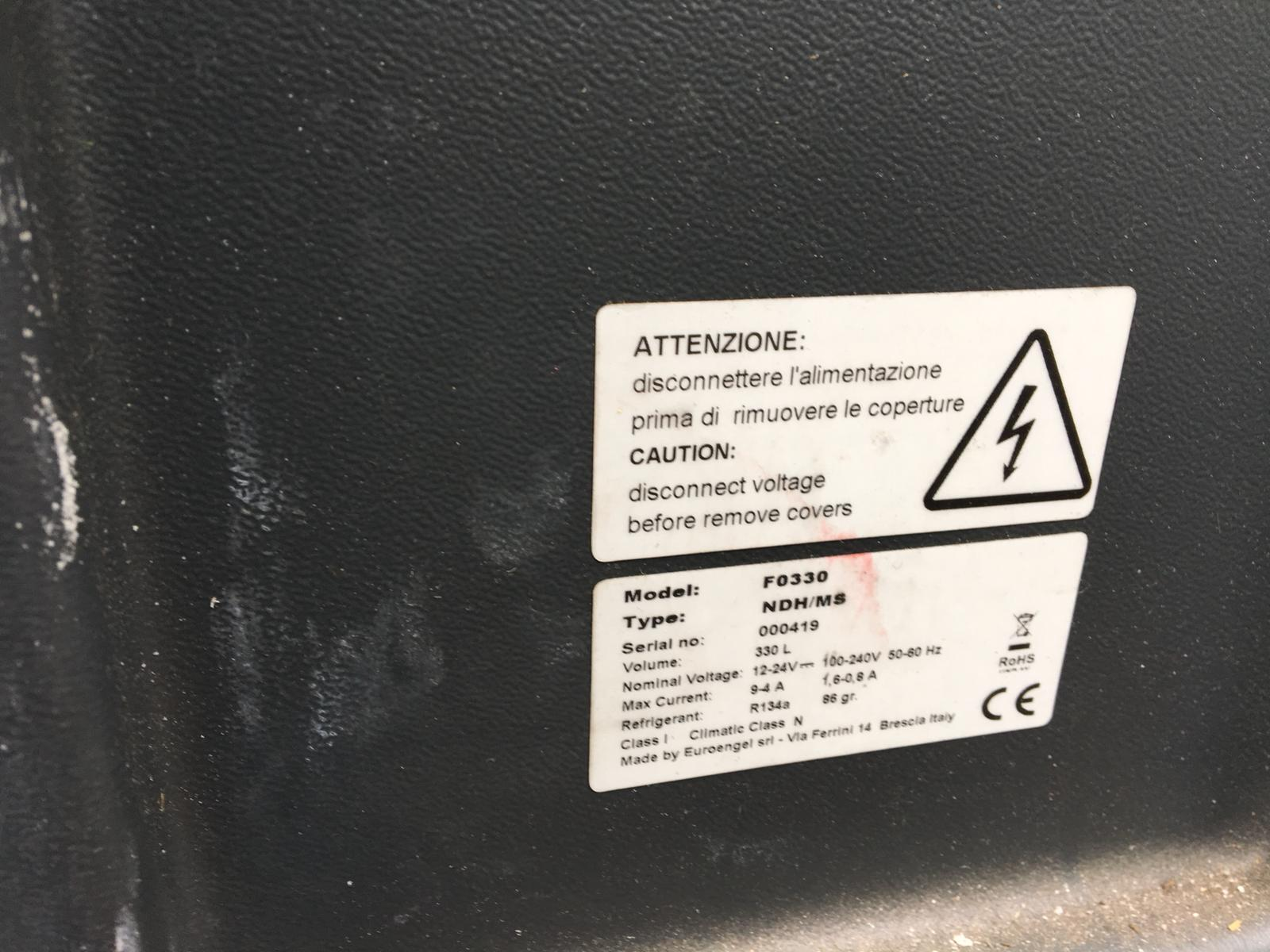 Lot 133 - EUROENGEL F0330 FRONTAL OPENING REFRIGERATED CONTAINER 330 LITRES *NO VAT*