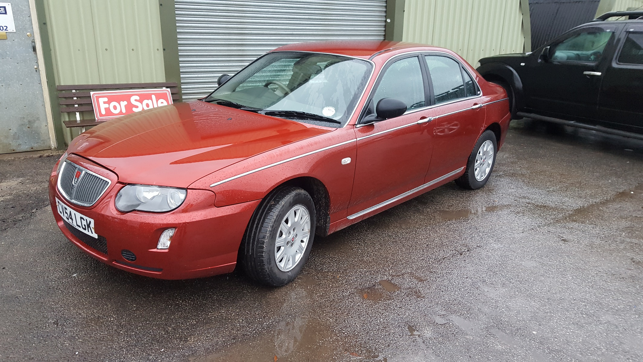 Lot 14 - LOW MILES! 2004/54 REG ROVER 75 CLASSIC RED PETROL 4 DOOR SALOON, SHOWING 1 FORMER KEEPER *NO VAT*