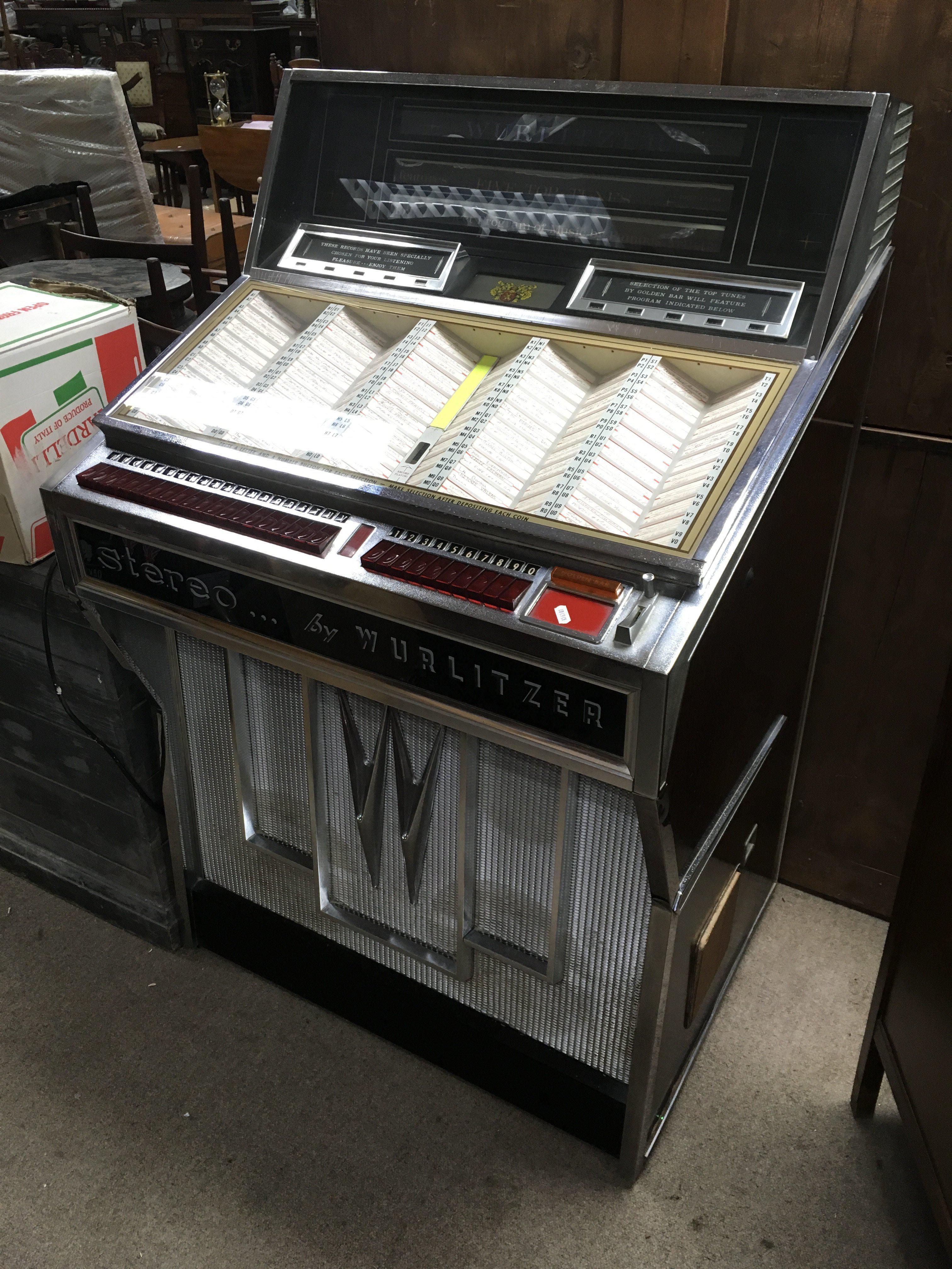 A Wurlitzer jukebox, circa 1966, serial number 598508