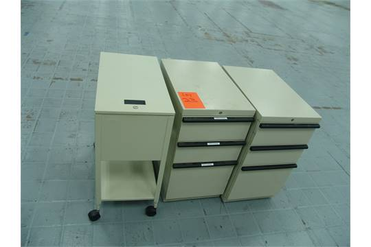 3 Rolling File Cabinets 1 Top Loading 2 Drawer