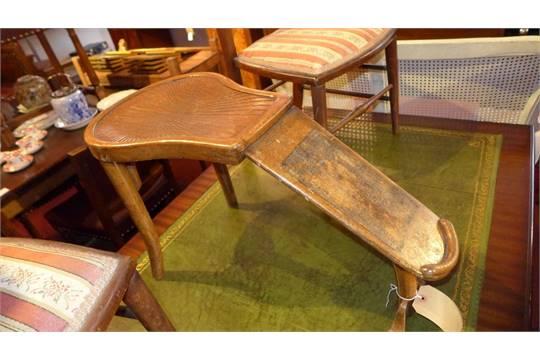 A Thonet Bentwood Vintage Shoe Shining Stool
