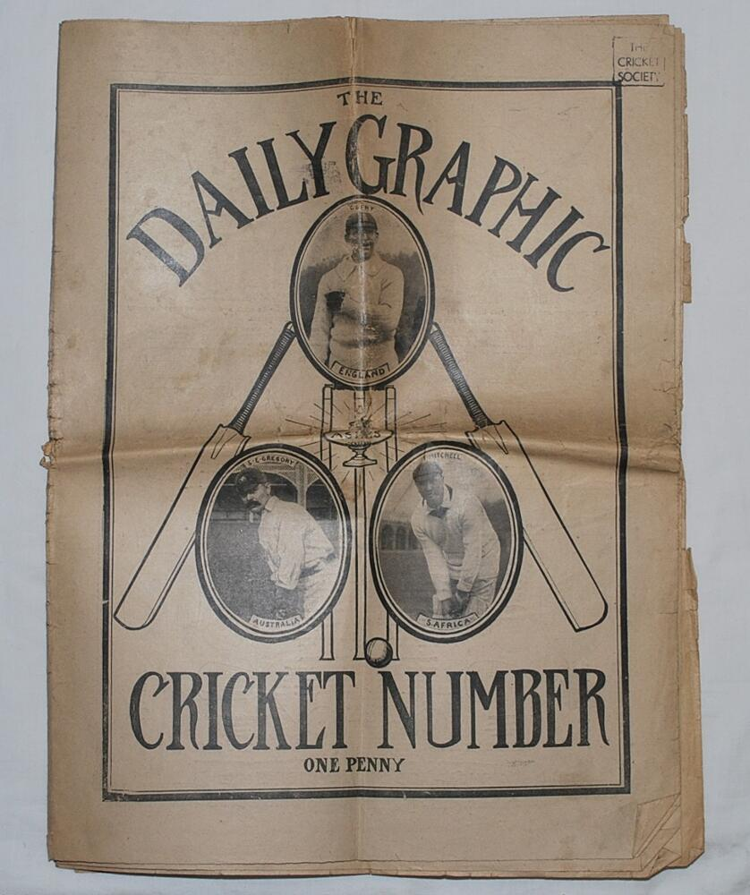 Lot 28 - 'The Daily Graphic. Cricket Number 1912'. Original complete edition of the Cricket Number for