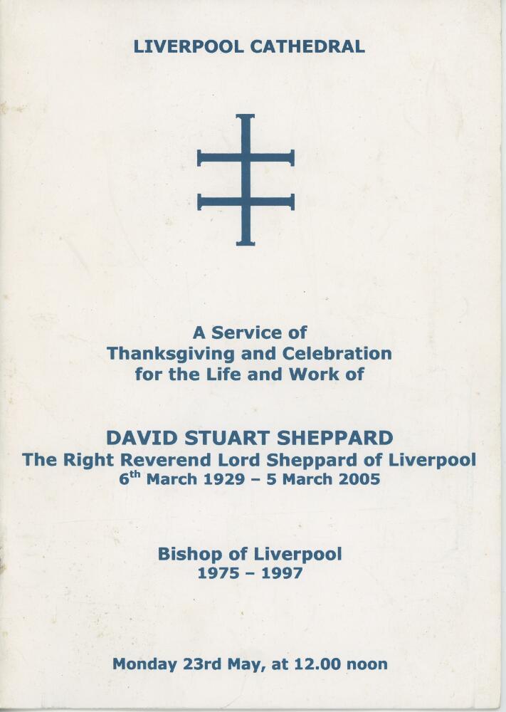 Lot 18 - Cricketers' Orders of Service. Harold Larwood 1904-1995, Kenneth Cranston 1917-2007 and David Stuart