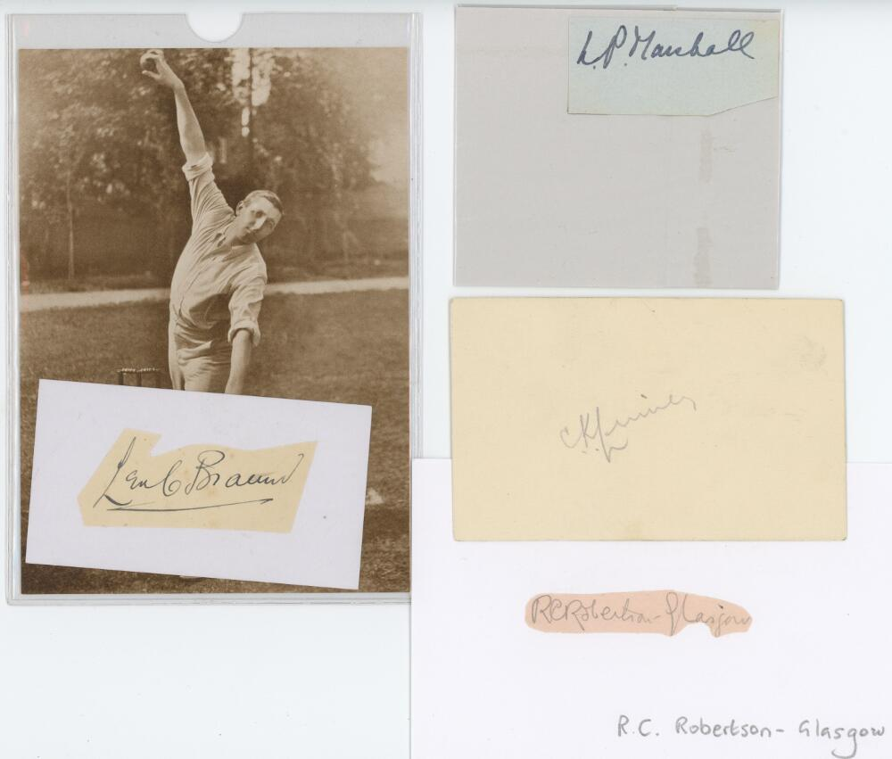 Lot 50 - Somerset. Small selection of ink and pencil signatures of Somerset players. Signatures are for