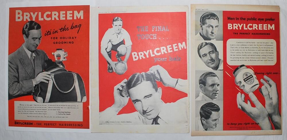 Lot 23 - Denis Compton. 'Brylcreem' 1940s/1950's. Fourteen original advertisements for Brylcreem taken from