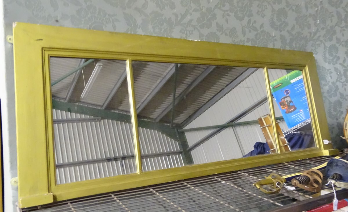 A gilt over mantel mirror, - Image 3 of 3