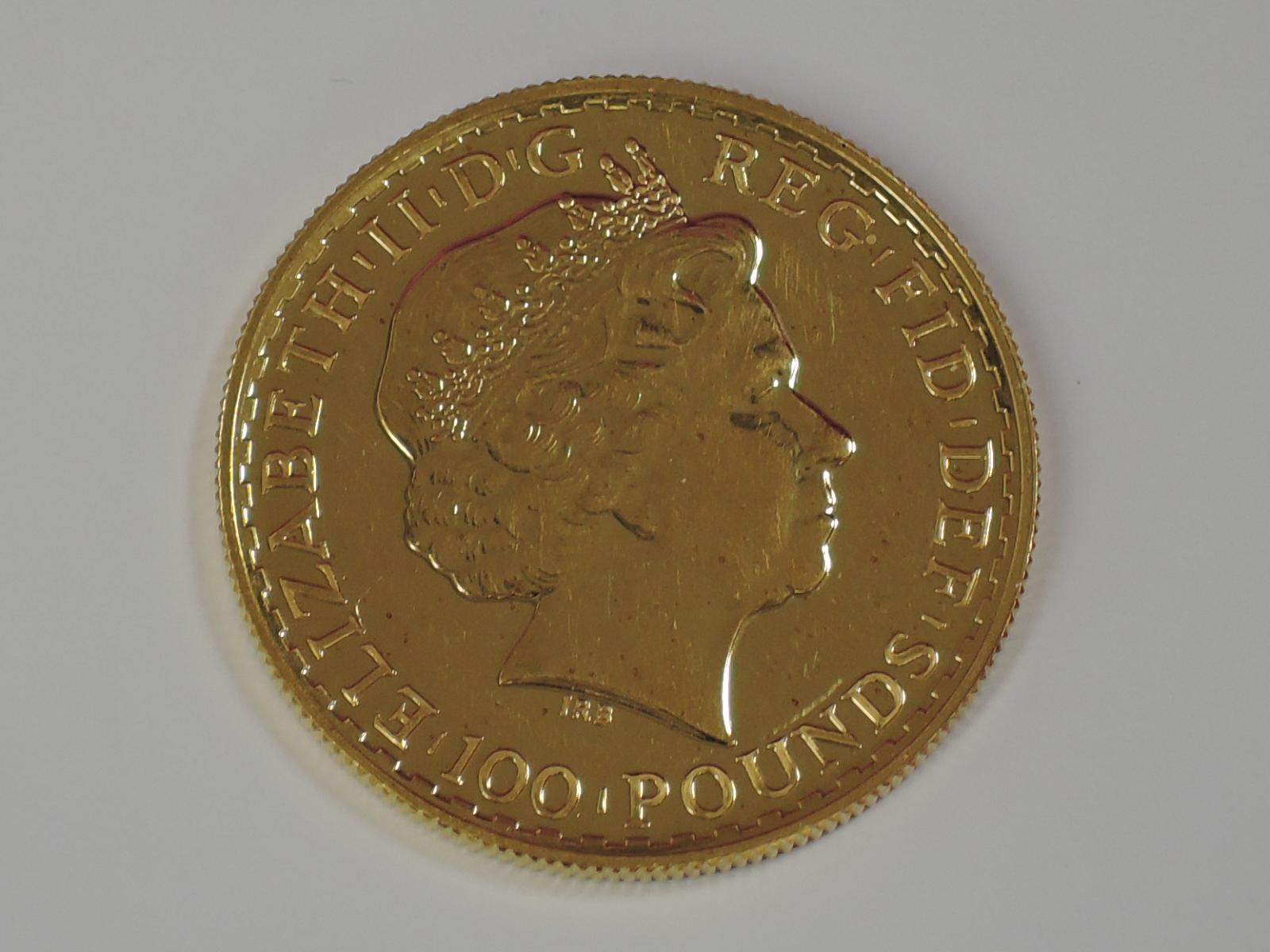 Lot 643 - A gold 1oz 2014 Great Britain Britannia 100 pound coin, in plastic case