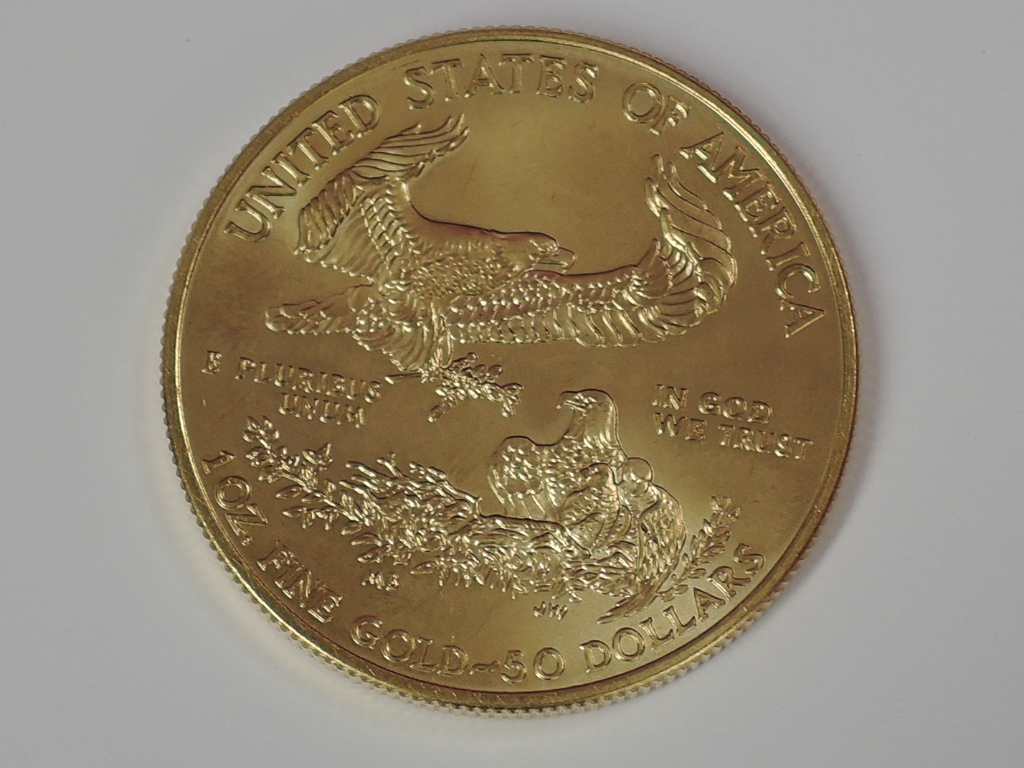 Lot 613 - A gold 1oz 2009 50 dollar U.S.A. coin, in plastic case