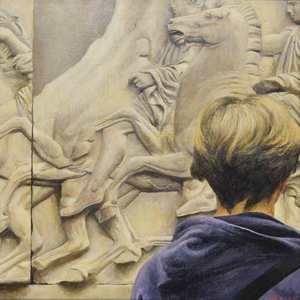 Lot 215 - •Richard Whincop (b. 1964) - 'Viewing the Elgin Marbles', signed 'Whincop and dated '05 (2005),