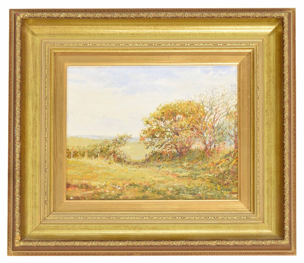 "Lot 240 - Michael Lees (20th/21st century contemporary) - ""In the shade of the Sycamore tree"" signed, also"