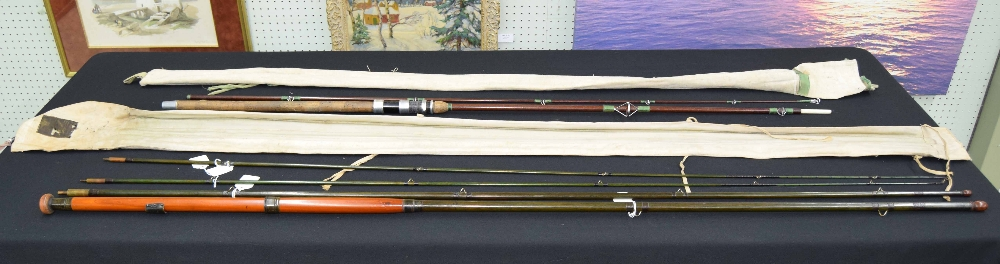 Lot 44 - Angling Interest - good Hardy Bros 'Alnwick Greenheart' fly fishing rod, 13', three piece rod