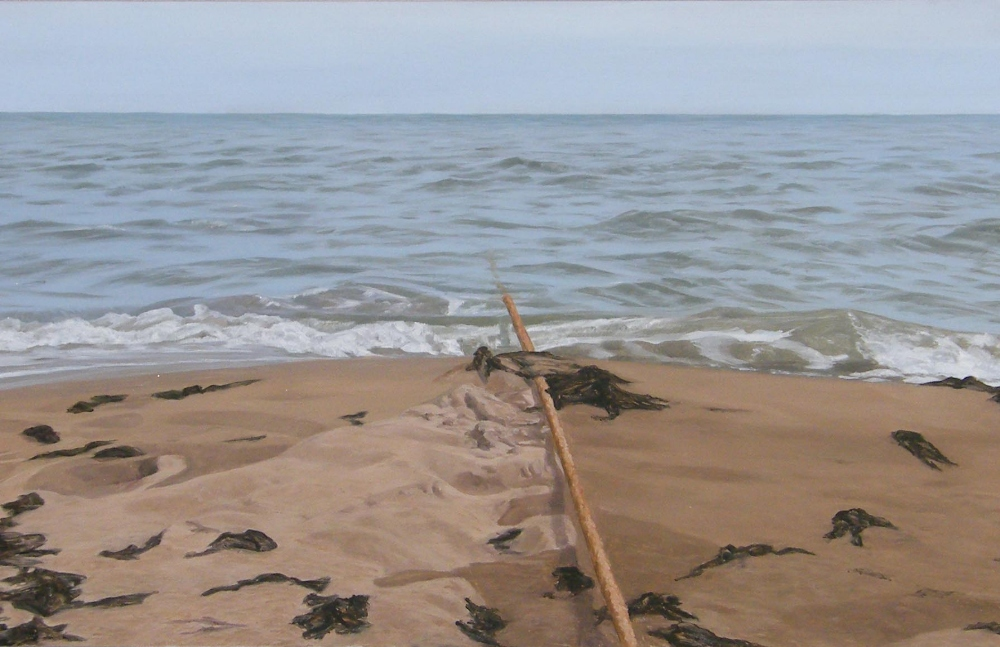 Lot 228 - •Tom Bech (20th/21st century) - 'Rope to Sea,I, East Haven' signed, inscribed and dated '2001 verso,