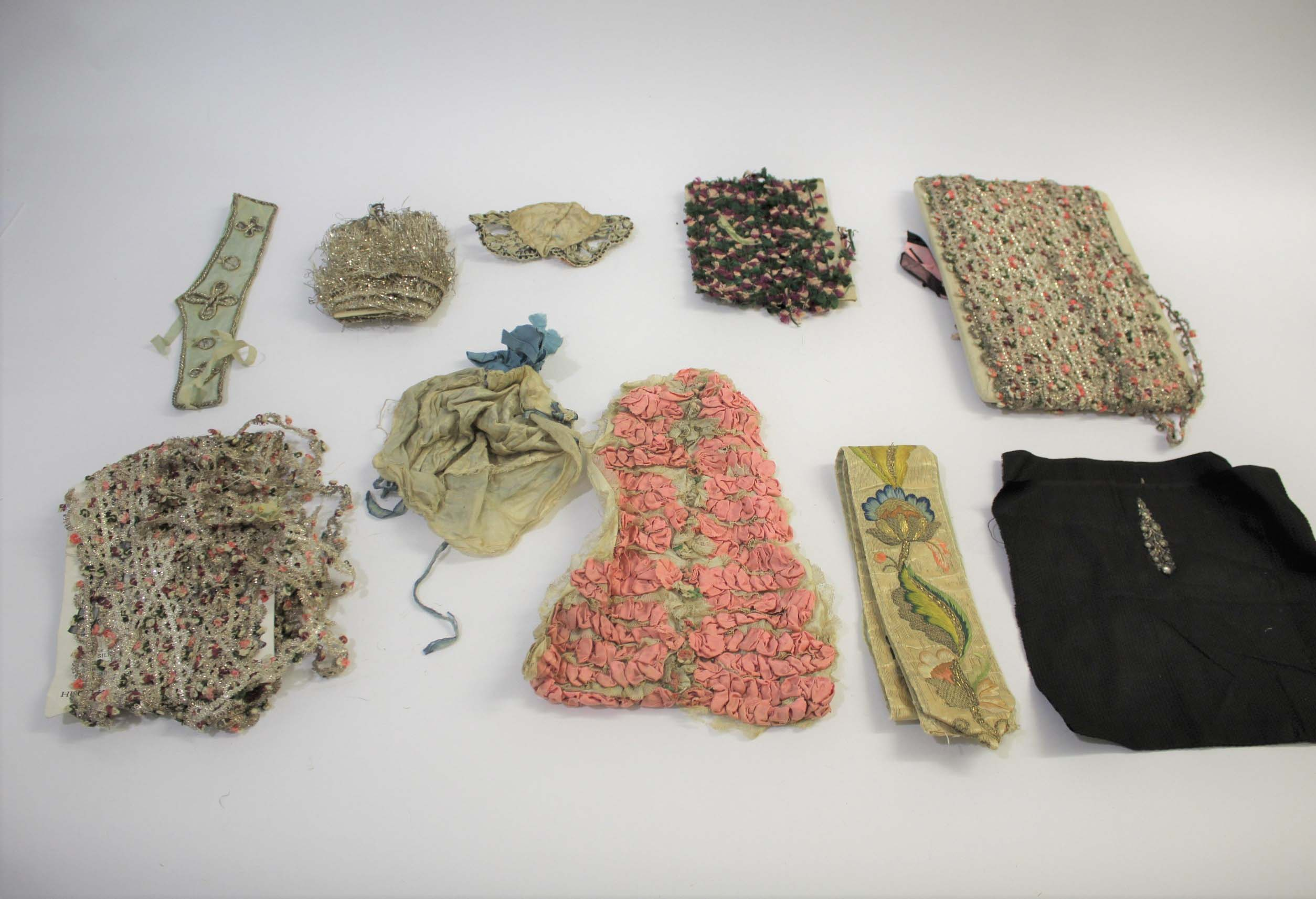 COLLECTION OF 18TH & 19THC TEXTILES & TRIMMINGS an interesting collection of 18th and 19thc