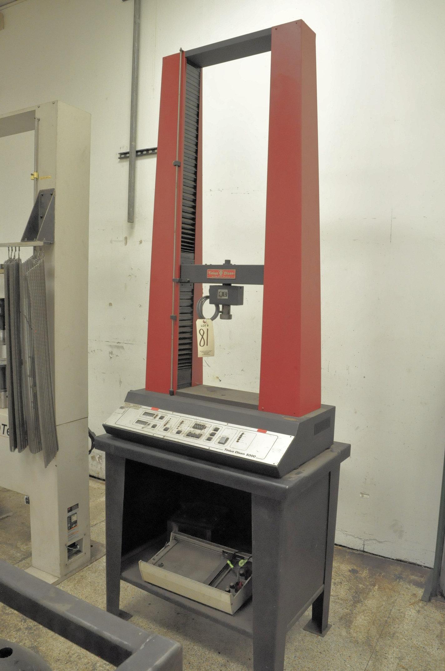 Lot 81 - Tinius Olsen 5000, Vertical Tensile Tester, S/n 154278