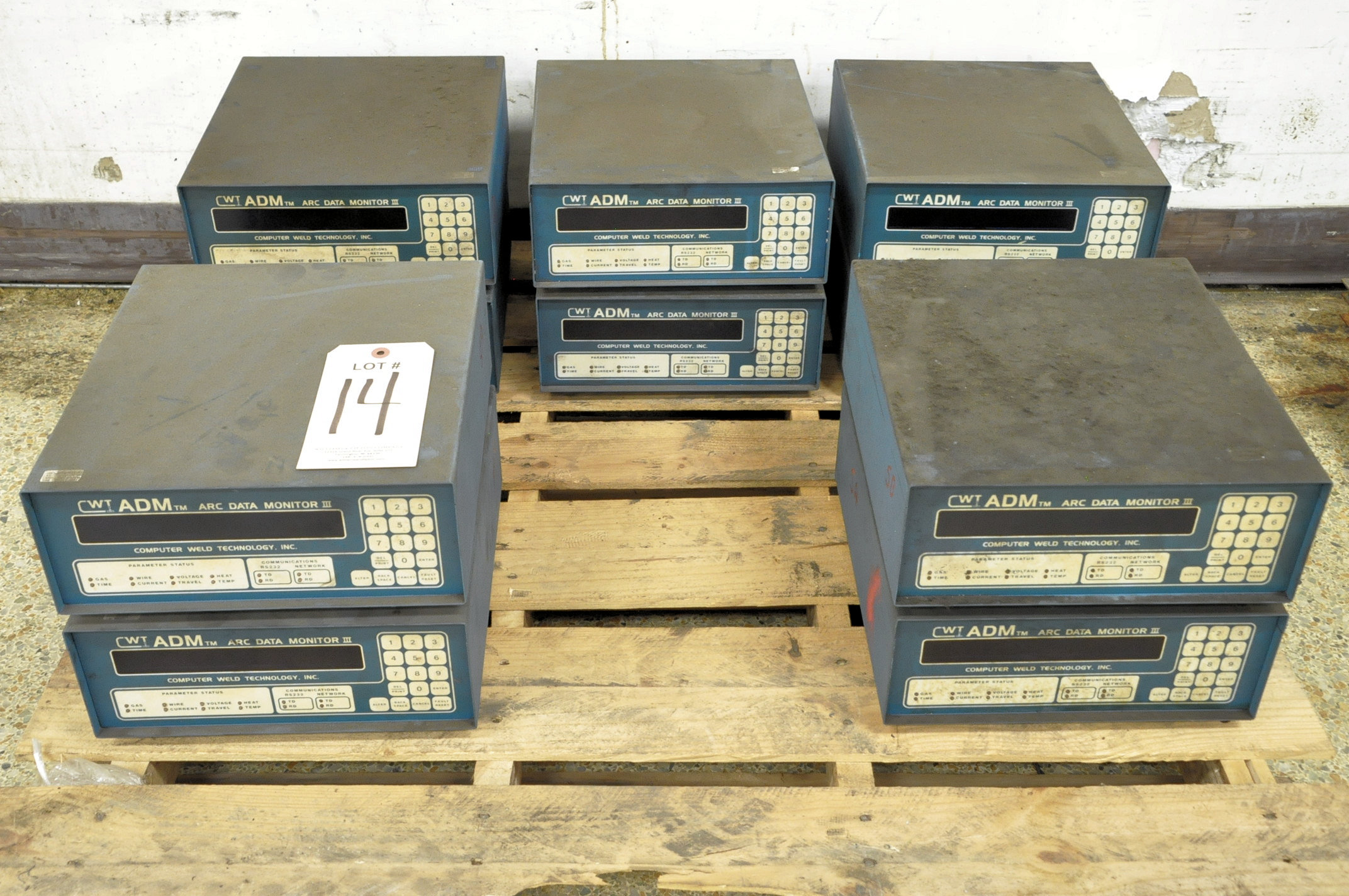 Lot 14 - Lot-(10) CWT ADM Arc Data Monitor III Digital Weld Controllers on
