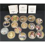 Collectable Coins 16 in Total Various Themes