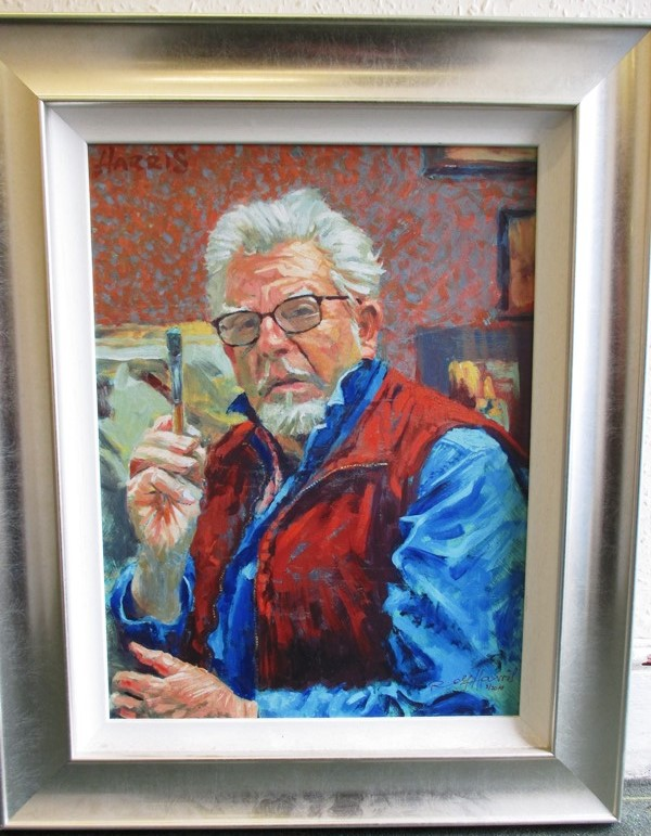 Lot 331 - A framed limited edition print self portrait of Rolf Harris from national exhibition tour 2010