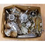 A quantity of assorted silver plated ware, including Victorian part tea service, comprising of a
