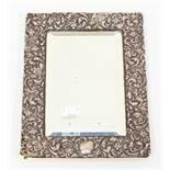 Silver framed mirror, Birmingham 1900, 24cm x 18cm