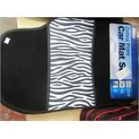Streetwise Zebra Print 4 piece car mat set, new with POS still attached