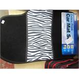 Streetwise Zebra Print 4 piece car mat set, new with POS still attached