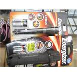 2 items being 1 x Energizer Hard Case professional LED torch & 1 x Energizer X Focus Torch both new