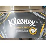 Pack of 6 x boxes of Kleenex Extra large tissues, boxes have damage such as been squashed.
