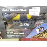 Challenger Saddle Maintenance pack, includes a Pump, a Puncture repair kit, a Bicycle saddle bag