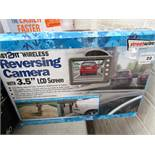 """Streetwize reversing camera with 3.5"""" LCD screen, untested and boxed."""
