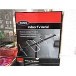 Box of 3x Ross Indoor Tv aerials, new