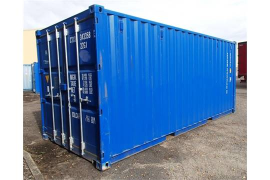 NEW ONE TRIP SHIPPING CONTAINER C/W 4 NO LOCKING BARS, LOCK