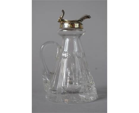 A Silver Topped Whisky Noggin Flask, B'Ham Hallmark, 11cms High