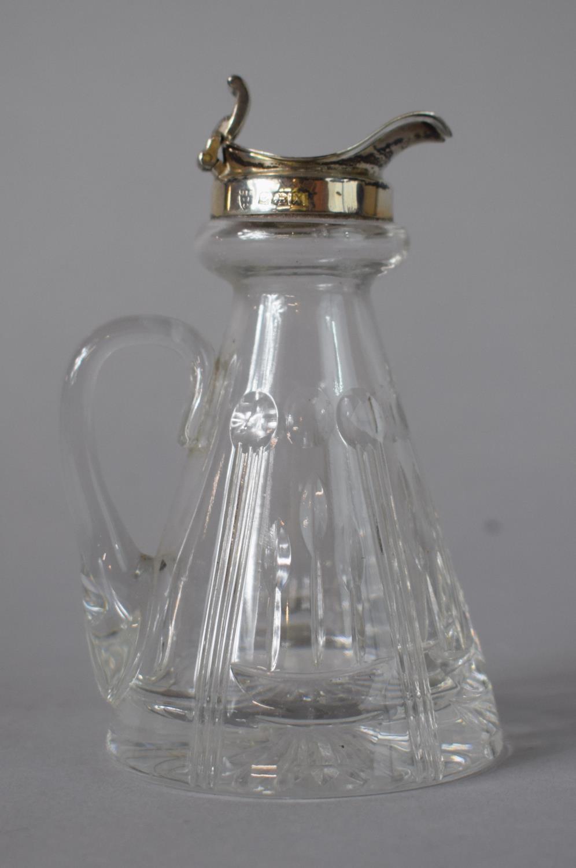 A Silver Topped Whisky Noggin Flask, B'Ham Hallmark, 11cms High