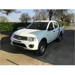 2014/64 REG MITSUBISHI L200 DI-D 4X4 4WORK LB DOUBLE CAB 2.5 DIESEL WHITE PICK-IP 135BHP *PLUS VAT*
