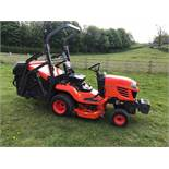 """KUBOTA G23-11, MODEL G23-3HD RIDE ON MOWER, 48"""" MID MOUNTED CUTTING DECK. YEAR 2015, 995 LOW HOURS"""