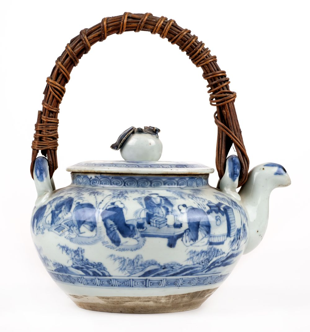 Lot 96 - * Oriental ceramics. A 19th century Chinese blue and white dish and other items