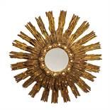 SPECCHIERA/RAGGIERA in legno intagliato e dorato. Italia XX secolo Misure: diametro cm 64