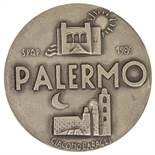 """GIACOMO BARAGLI (Palermo 1934 - 1989) MEDAGLIA """"Palermo - Augusta Prudente Fedele"""", anno 1986."""