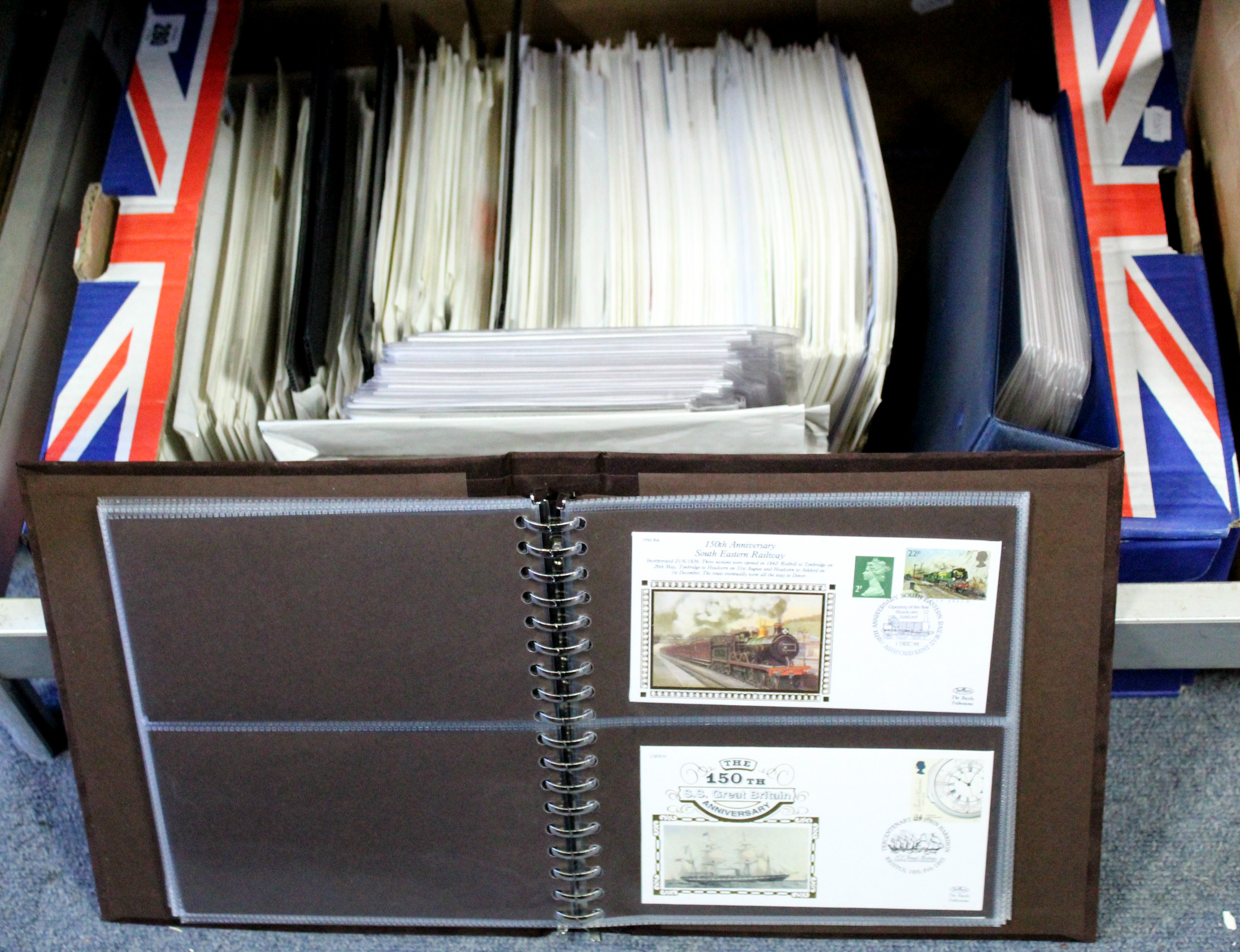 Lot 280 - A collection of approximately 700 G. B. First Day covers, 1979-2014, mostly loose, some in three
