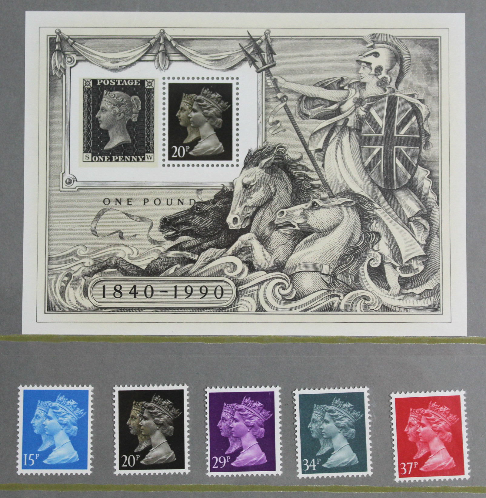 Lot 287 - Eighteen Royal Mail Collector's/Year packs of mint stamps, 1984-2004; two 1d Black stamps, each in