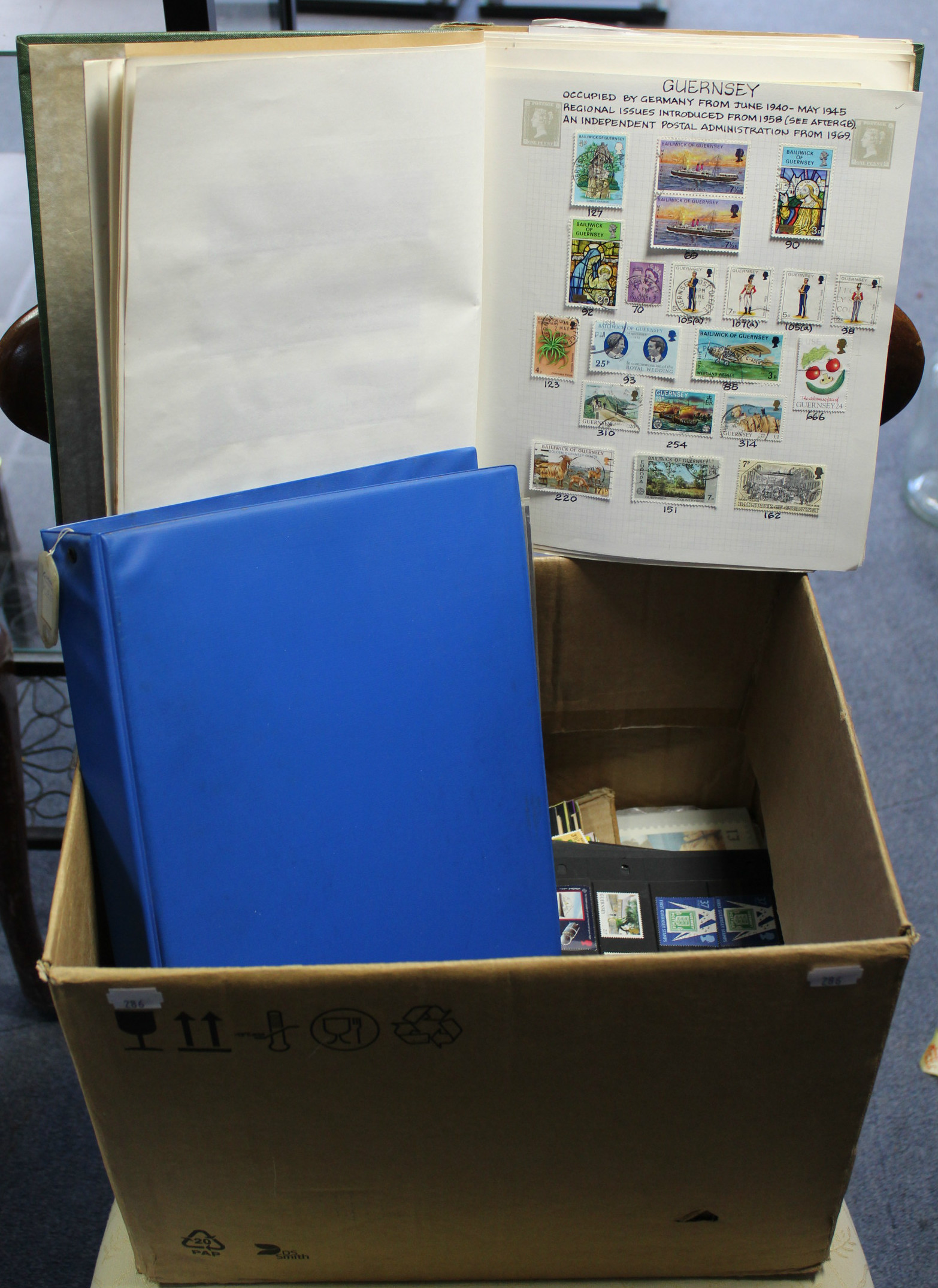 Lot 286 - A collection of Guernsey & Alderney mint stamps, commemorative issues in packs, covers, PHQs,