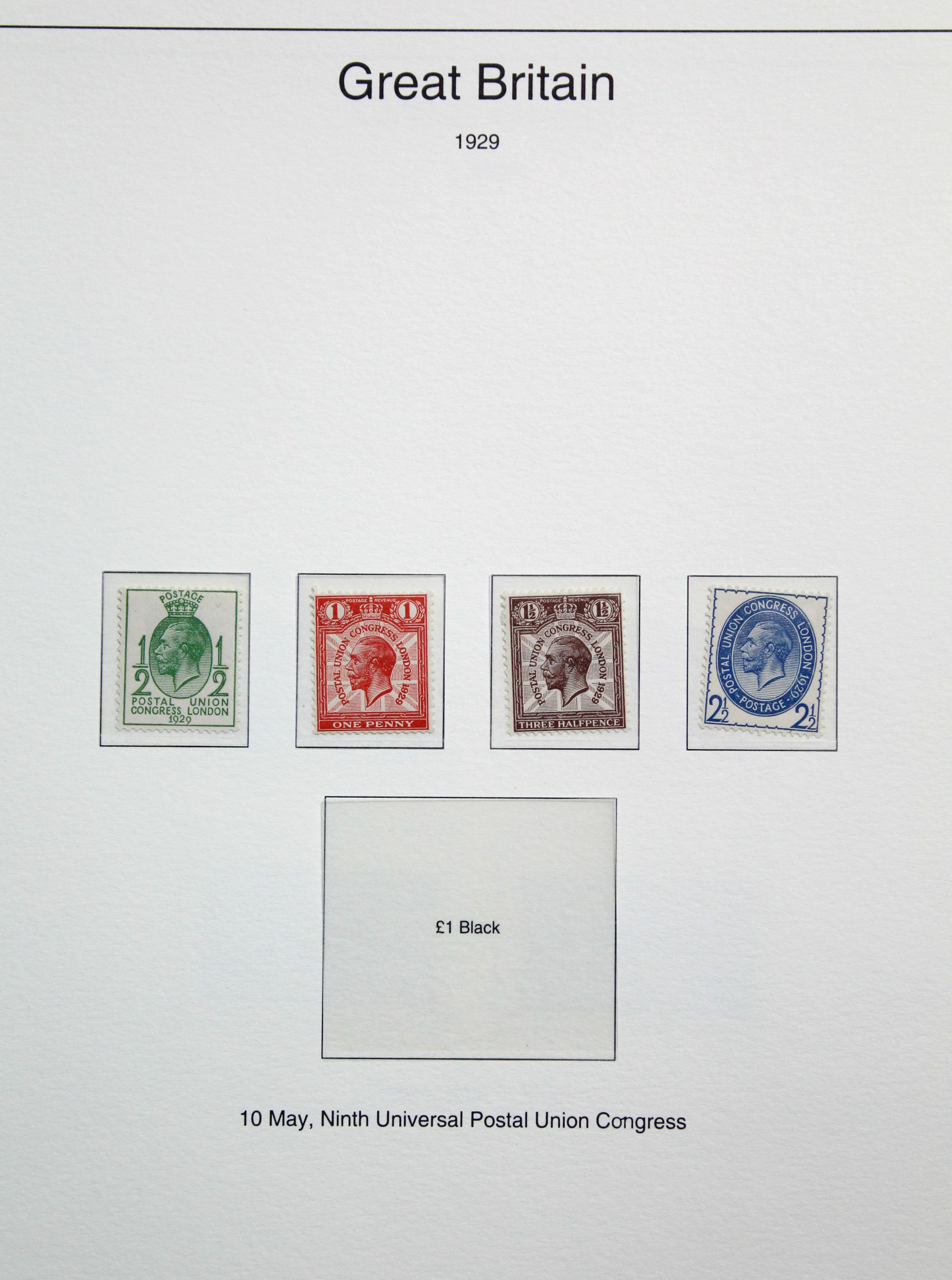 Lot 278 - A part-collection of G. B. stamps & covers including a few Victorian issues, in five ring-binder