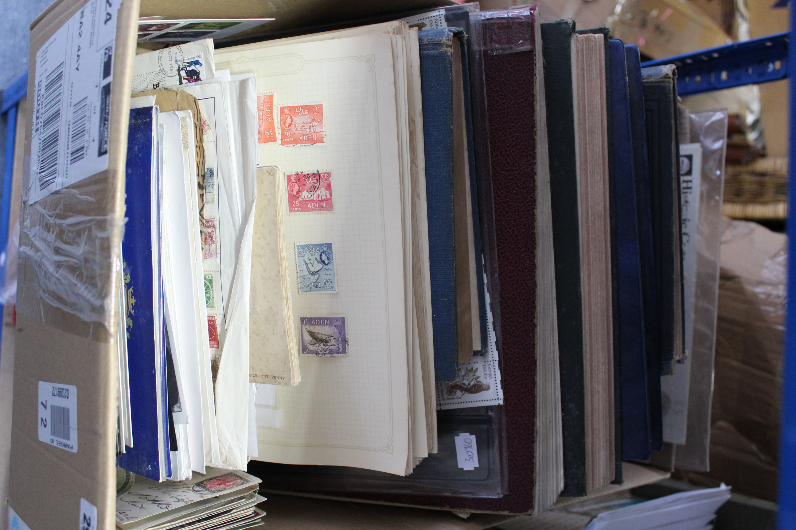 Lot 291 - A collection of foreign stamps, covers, etc., in six albums & loose.