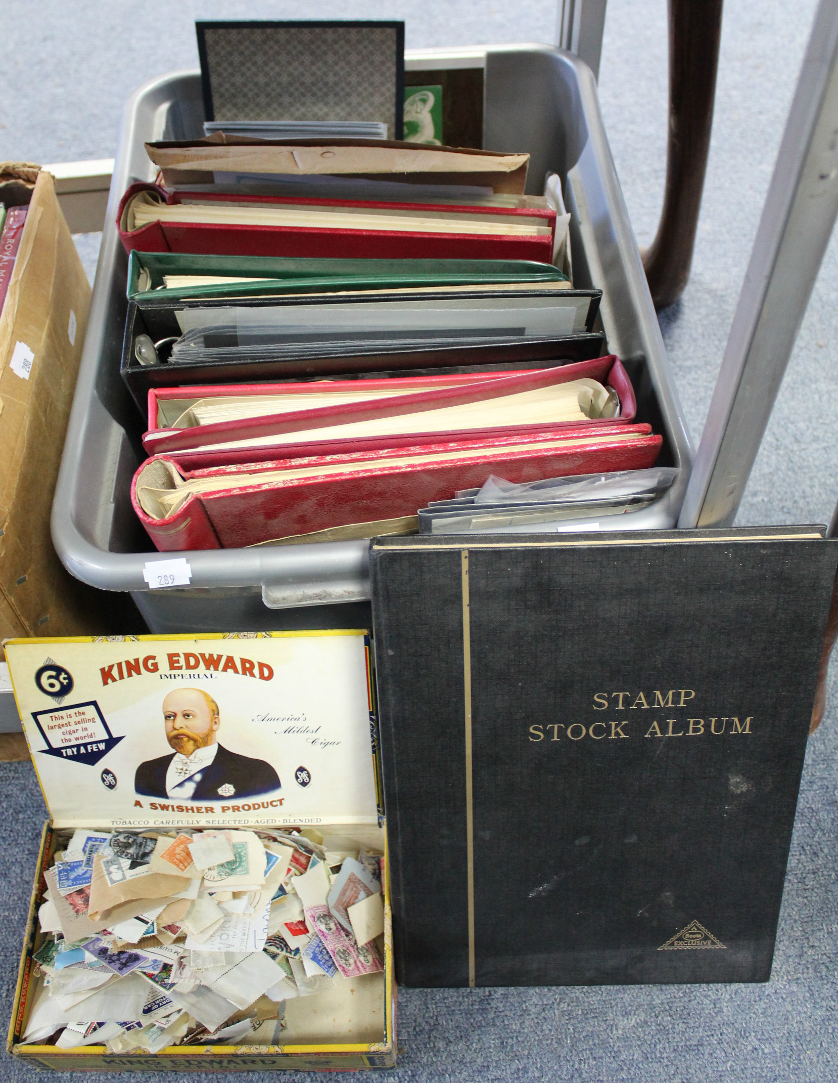 Lot 289 - A collection of G. B. & foreign stamps, covers, etc., in twelve albums & loose.
