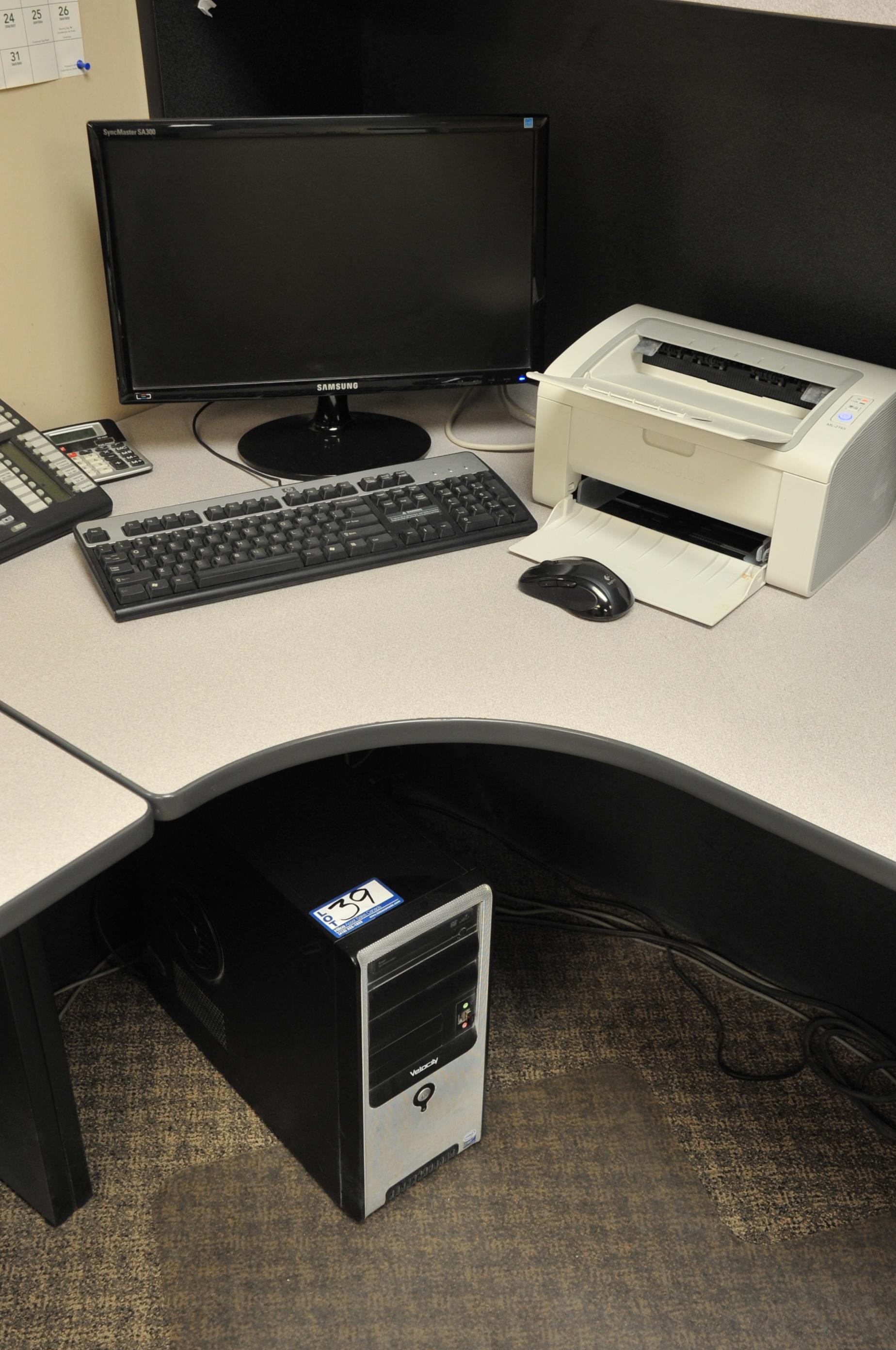 "Velocity Model Core 2 Duo Computer; with 20"" Samsung LCD Monitor, Printer"