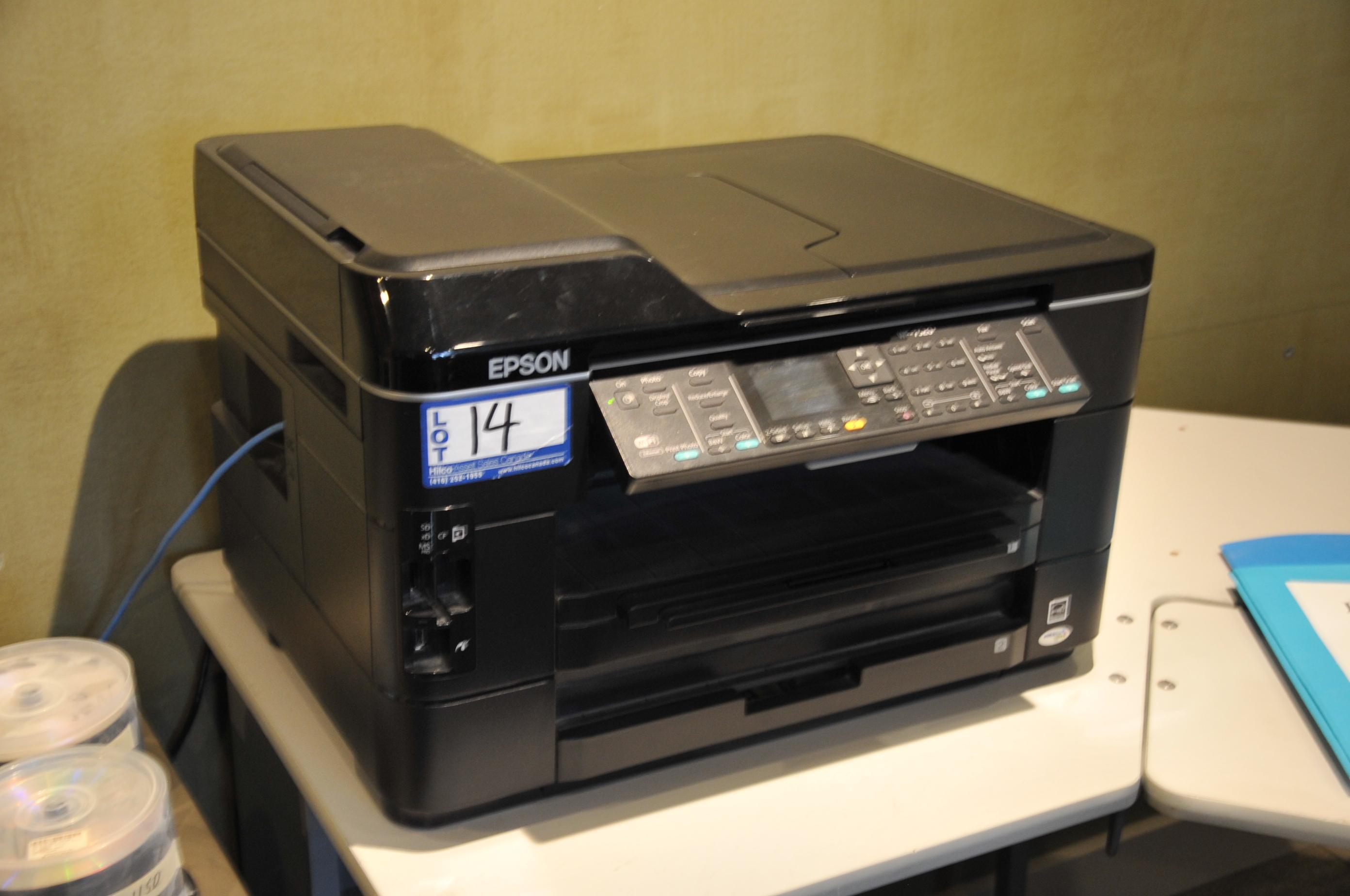 Epson Model WF-7520 Copy/Fax/Scan Printer